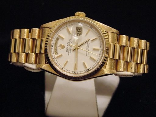 Rolex 18K Yellow Gold Day-Date President 18238 White -7