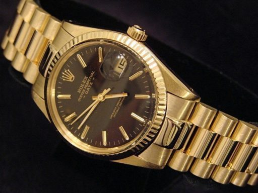 Rolex 14K Yellow Gold Date 15037 Black -6