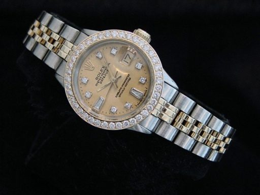 Rolex Two-Tone Datejust 6517 Champagne Diamond-5