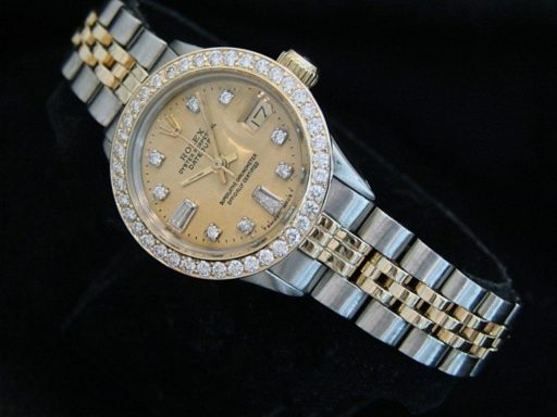 Rolex Two-Tone Datejust 6517 Champagne Diamond-4