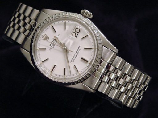 Rolex Stainless Steel Datejust 1603 White -7