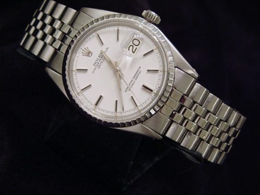 Rolex Stainless Steel Datejust 1603 White -6