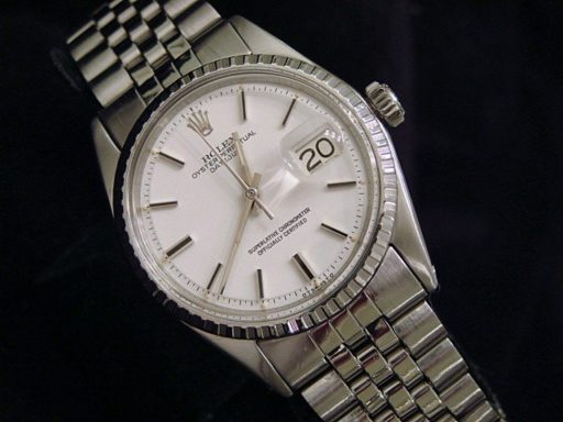 Rolex Stainless Steel Datejust 1603 White -5