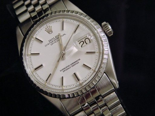 Rolex Stainless Steel Datejust 1603 White -4