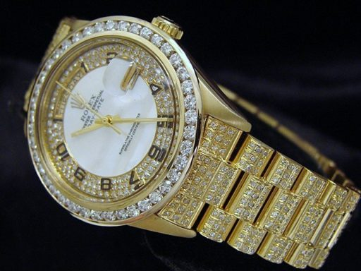 Rolex 18K Yellow Gold Day-Date President 18038 Full Diamond-5