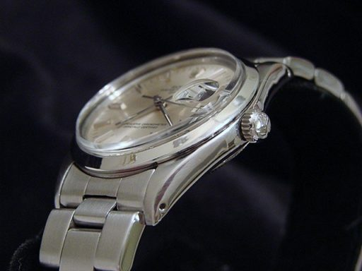 Rolex Stainless Steel Date 15000 Silver -3