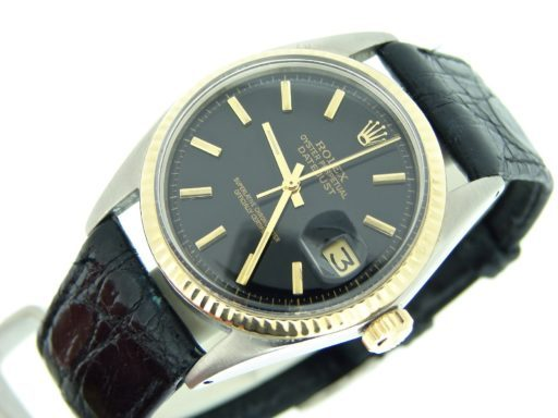 Rolex Two-Tone Datejust 1601 Black -6