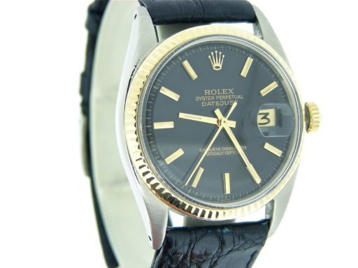 Rolex Two-Tone Datejust 1601 Black -8