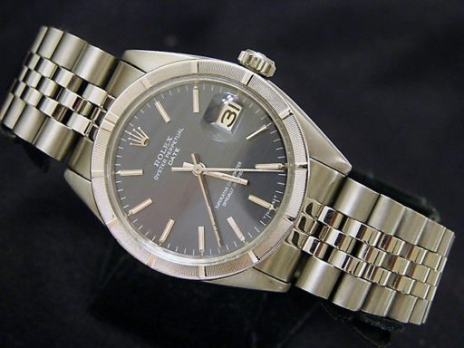 Rolex Stainless Steel Date 1501 Gray, Slate -5