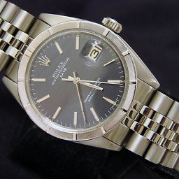 Mens Rolex Stainless Steel Date Gray Slate 1501