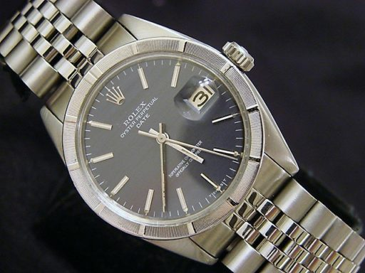 Rolex Stainless Steel Date 1501 Gray, Slate -4