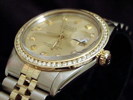 Rolex Two-Tone Datejust 16013 Champagne Diamond-3