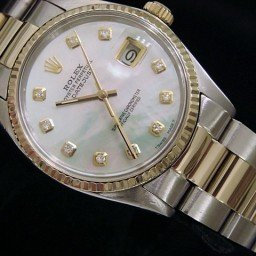 Mens Rolex Two-Tone 18K/SS Datejust White Diamond 16013 (SKU 5351278MT)