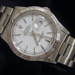 Mens Rolex Stainless Steel Datejust Turn-O-Graph White  16264