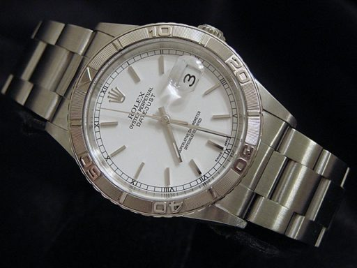 Rolex Stainless Steel Datejust 16264 White Turn-O-Graph-4