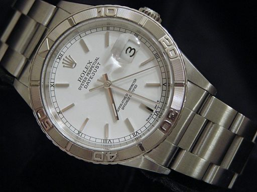 Rolex Stainless Steel Datejust 16264 White Turn-O-Graph-3