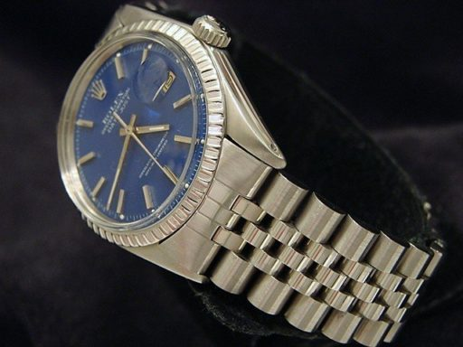 Rolex Stainless Steel Datejust 1603 Blue -3