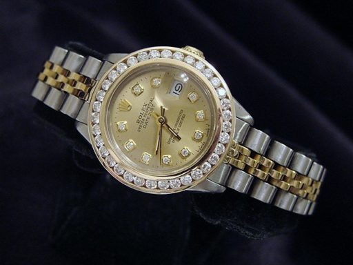 Rolex Two-Tone Datejust 6917 Champagne Diamond-4