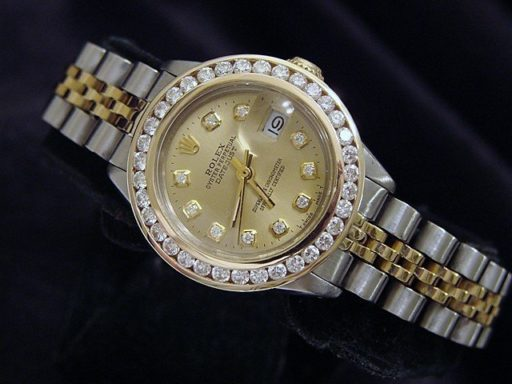 Rolex Two-Tone Datejust 6917 Champagne Diamond-5