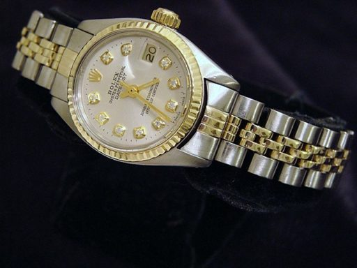 Rolex Two-Tone Datejust 6917 Silver Diamond-4