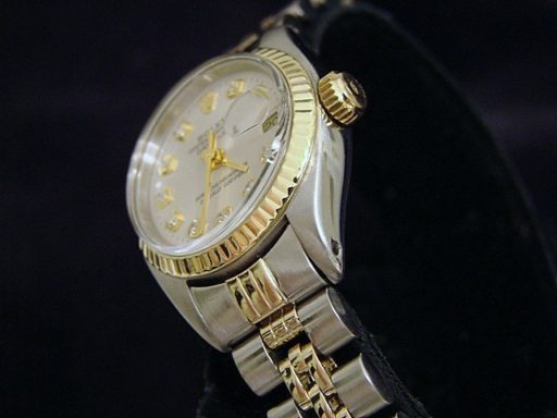 Rolex Two-Tone Datejust 6917 Silver Diamond-2