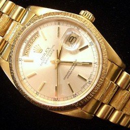 Mens Rolex 18K Gold Day-Date President Silver  18078 (SKU 7231111MT)