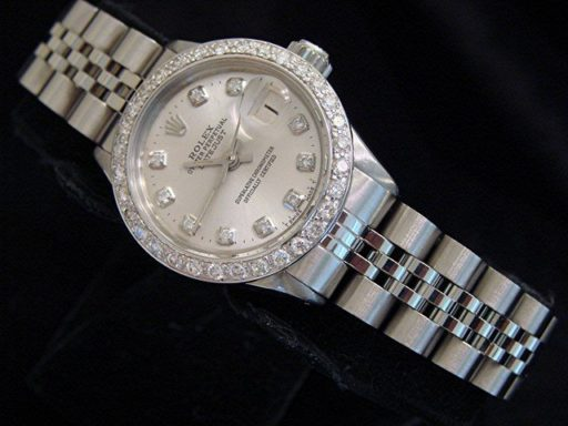 Rolex Stainless Steel Datejust 6517 Silver Diamond-6