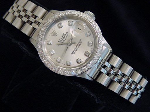Rolex Stainless Steel Datejust 6517 Silver Diamond-5