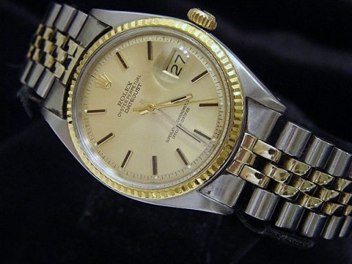 Rolex Two-Tone Datejust 1601 Champagne -4