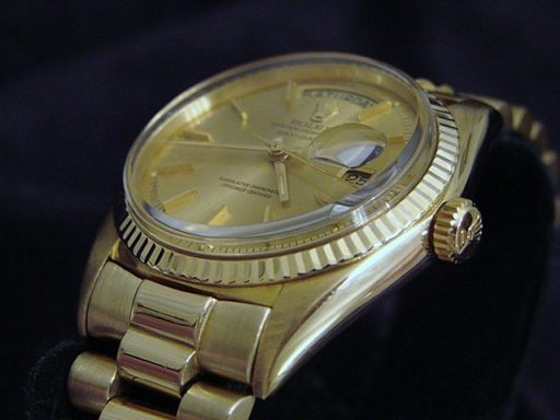 Rolex 18K Yellow Gold Day-Date President 1803 Champagne -2