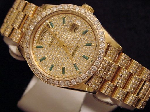Rolex 18K Yellow Gold Day-Date President 18038 Full Diamond-4