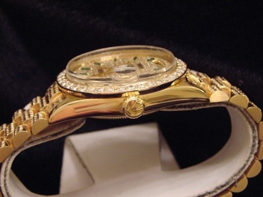 Rolex 18K Yellow Gold Day-Date President 18038 Full Diamond-2