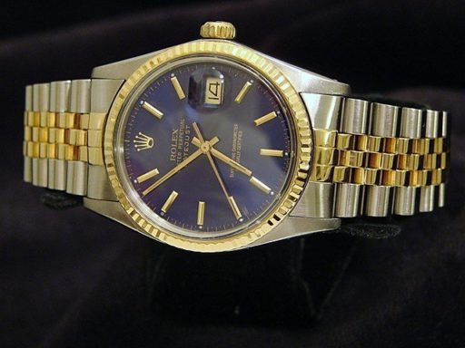 Rolex Two-Tone Datejust 16013 Blue -7