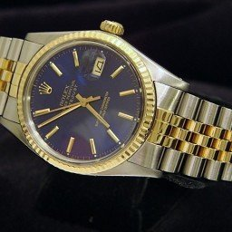 Mens Rolex Two-Tone 18K/SS Datejust Blue  16013
