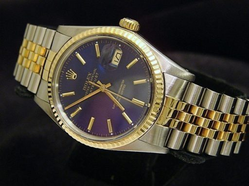 Rolex Two-Tone Datejust 16013 Blue -5