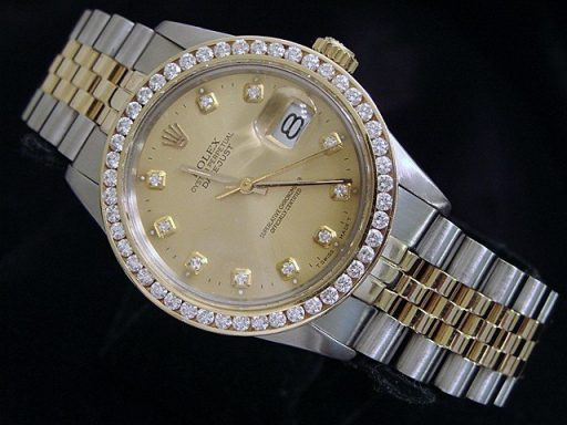 Rolex Two-Tone Datejust 16013 Champagne Diamond-6