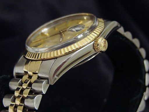 Rolex Two-Tone Datejust 16013 Champagne -3