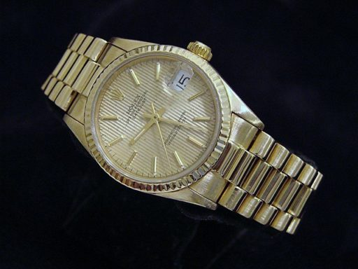Rolex Yellow Gold Datejust President 68278 Tapestry-5