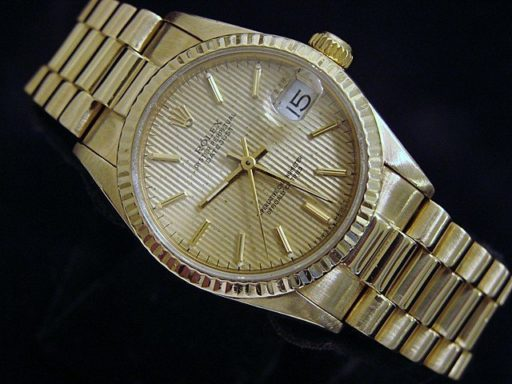 Rolex Yellow Gold Datejust President 68278 Tapestry-1