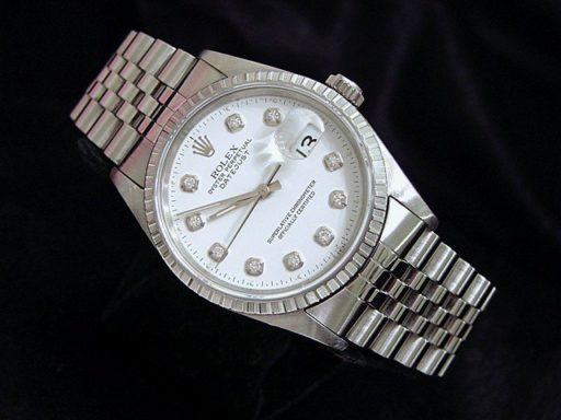 Rolex Stainless Steel Datejust 16220 White Diamond-4