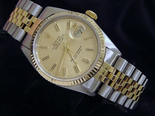 Rolex Two-Tone Datejust 16013 Champagne -6