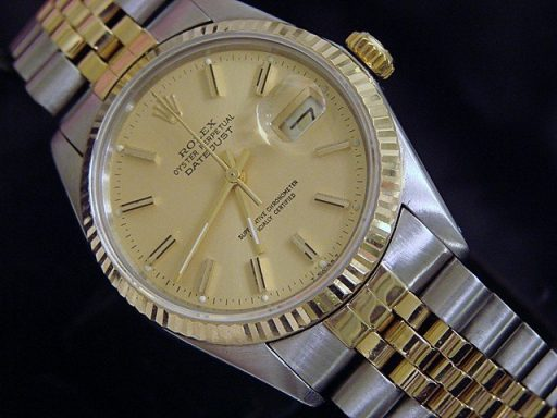 Rolex Two-Tone Datejust 16013 Champagne -4