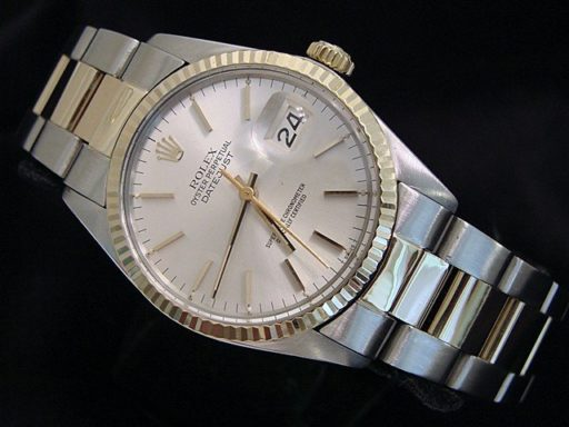 Rolex Two-Tone Datejust 16013 Silver -4