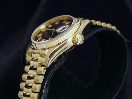 Rolex Yellow Gold Datejust President Diamond 69178 Black-3