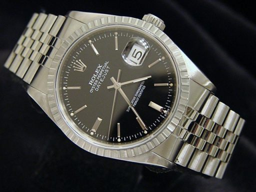 Rolex Stainless Steel Datejust 16220 Black -4