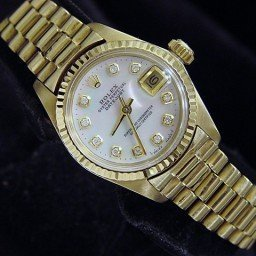 Ladies Rolex 18K Yellow Gold Datejust President White Diamond 6917 (SKU 5601668MT)
