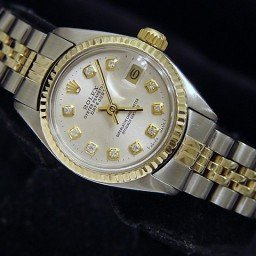 Ladies Rolex Two-Tone 14K/SS Datejust Silver Diamond 6917 (SKU 5640132MT)