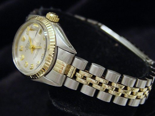 Rolex Two-Tone Datejust 6917 Silver Diamond-5