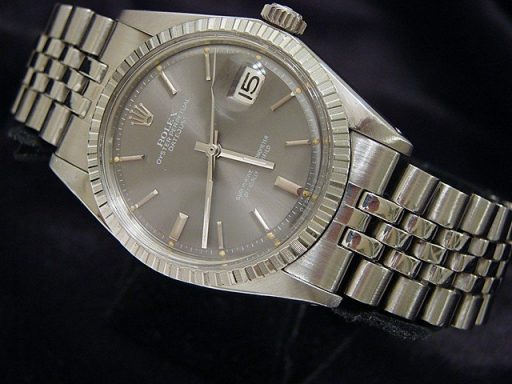 Rolex Stainless Steel Datejust 1603 Gray, Slate -7