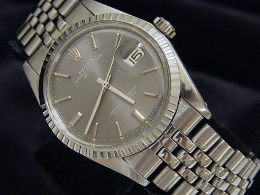 Rolex Stainless Steel Datejust 1603 Gray, Slate -6